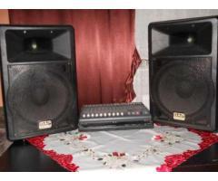 Urgent,amplificator yamaha EMX 2000 , 2x 200 w cu boxe DAP Audio, 400