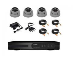 Kit supraveghere video complet 4 camere HD cu IR 20 m +hard 1 Tb
