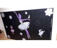 Placa plexiglas negru decorată pentru camera copilului