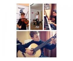 Cursuri/Lectii/Meditatii de chitara, pian, vioara si canto 50 LEI/ORA
