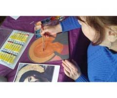 Meditatii pictura icoane pe lemn in tehnnica bizantina