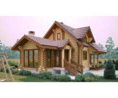 Casa, cabana din lemn rotund
