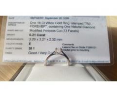 Vand Inel de logodna cu diamant 0.21 de calitate superioara, certificat