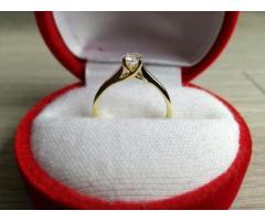 Vand Inel Aur galben 18K cu diamant 0,33ct