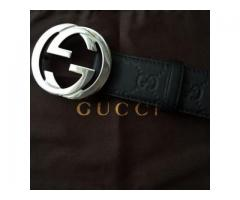 De vanzare Curea Gucci Guccissima Belt With Interlocking G 114984 AA61N