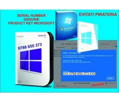 Instalez Windows 10-8-7-Product key/Retail/Factură/ Garanție