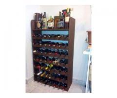 Raft (rastel, stelaj) rustic pentru 56 sticle de vin